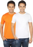 Quetzal Solid Men's Round Neck Orange, W...