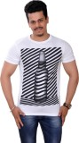 Cutehubby Printed Men's Round Neck White...