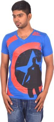 Rogue Printed Men's V-neck Light Blue T-Shirt
