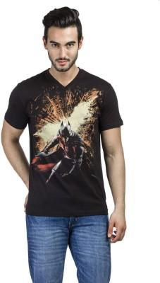 Dark Knight Printed Men's V-neck Black T-Shirt