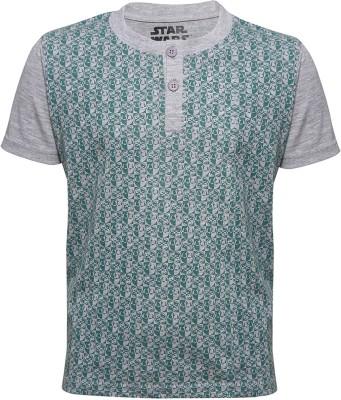 Slub Junior By INMARK Printed Boy's Round Neck Grey T-Shirt