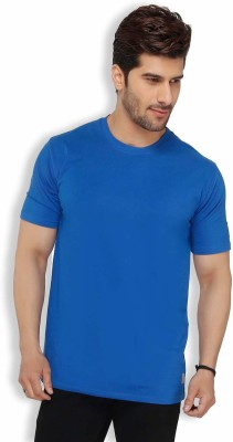 Live In Solid Men's Round Neck Blue T-Shirt