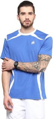 Aurro Solid Men's Round Neck Blue T-Shirt