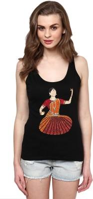 Maati Self Design Women's Round Neck T-Shirt