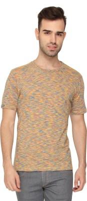 Crocodile Self Design Men,s Round Neck Multicolor T-Shirt