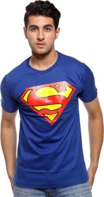 Bornify Printed Men's Round Neck Dark Blue T-Shirt