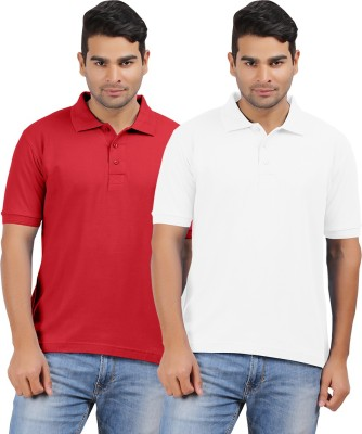 Hbhwear Solid Men's Polo Reversible Multicolor T-Shirt