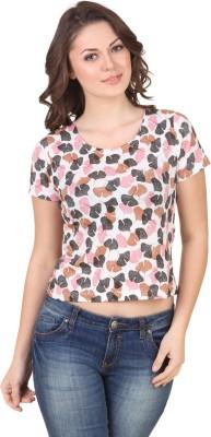 Flur Printed Women's Round Neck Multicolor T-Shirt