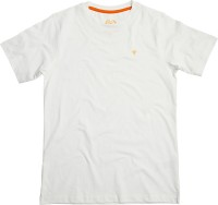 Superyoung Solid Boy's Round Neck White T-Shirt
