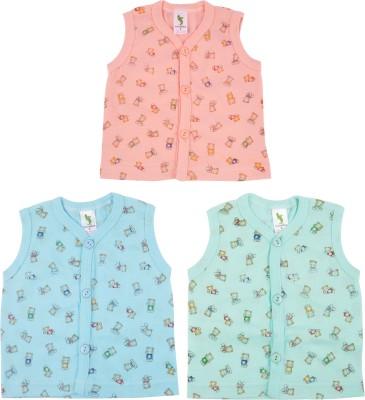 Cucumber Printed Baby Boy's Round Neck Pink, Blue T-Shirt