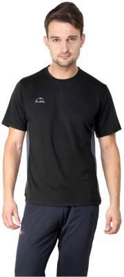 Dida Sportswear Solid Men's Round Neck Black T-Shirt