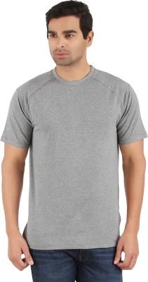Lavos Solid Men's Round Neck Grey T-Shirt