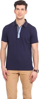 Smokestack Solid Men's Polo Dark Blue T-Shirt