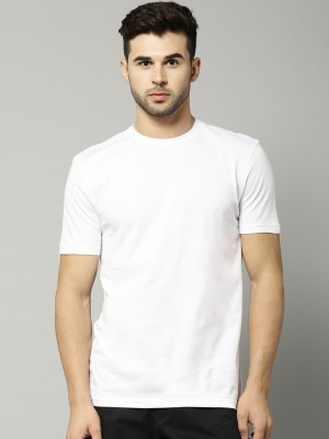 Marks & Spencer Solid Men's Round Neck White T-Shirt