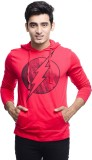 DC COMIC Printed Men's Round Neck Red T-...