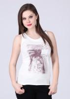 Alibi Printed Women's White T-Shirt best price on Flipkart @ Rs. 399