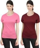 Neo Garments Solid Women's Round Neck Pi...