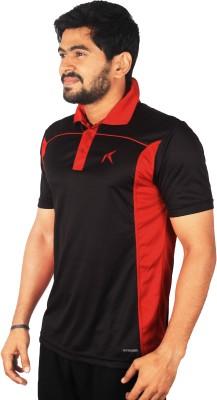 Repugn Solid Men,s Polo Neck Black T-Shirt