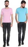 Stylogue Solid Men's Round Neck Multicol...