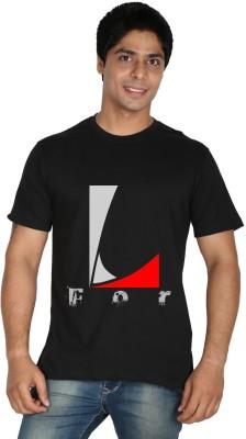 Trendster Printed Men's Round Neck Black T-Shirt