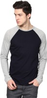 Izinc Solid Men's Round Neck Dark Blue T-Shirt