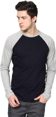 Izinc Solid Men's Round Neck Multicolor T-Shirt