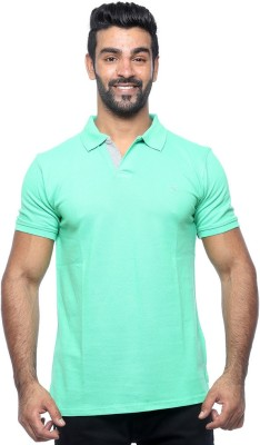 Sports 52 Wear Solid Men's Polo Neck Green T-Shirt