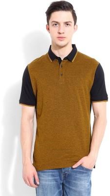 Blackberrys Printed Men's Polo Black T-Shirt