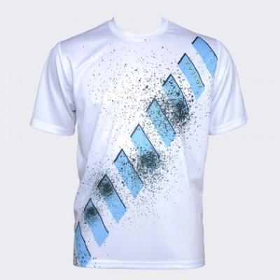 Veloz Printed Men's Round Neck White T-Shirt