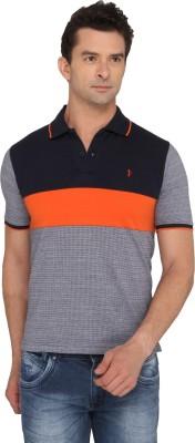 Donear NXG Striped Men's Polo Neck Orange T-Shirt