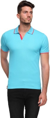 Flippd Solid Men's Polo Neck Green T-Shirt
