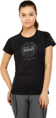 Puma Printed Women's Round Neck Black T-Shirt