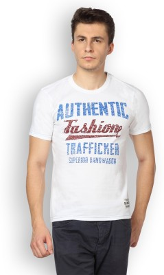 Difference of Opinion Graphic Print Men's Round Neck White T-Shirt