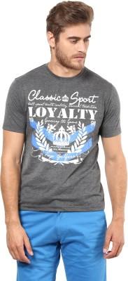 FUNK Printed Men's Round Neck Grey T-Shirt