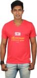 Dude Tamizha Printed Men's V-neck Red T-...