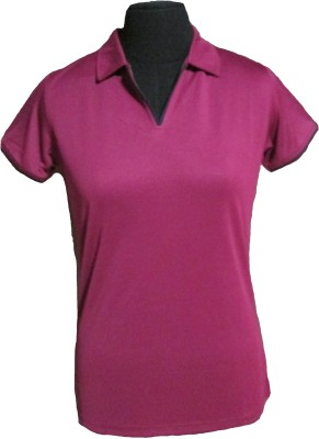 Soultrenz Solid Women's Polo Neck T-Shirt