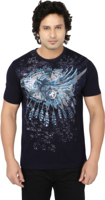 Side Effects Printed Men's Round Neck Blue, Grey T-Shirt