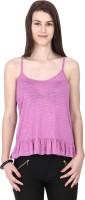 Alibi Solid Women's Round Neck Pink T-Shirt best price on Flipkart @ Rs. 210
