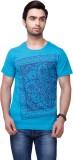 Yepme Graphic Print Men's Scoop Neck Blu...