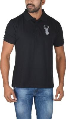 Le beau Solid Men's Polo Black T-Shirt