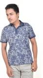 Spur Printed Men's Polo Neck Grey T-Shir...