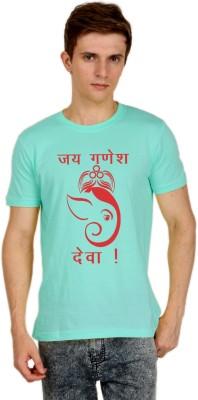 Shopping Monster Printed Men's Round Neck Light Blue T-Shirt