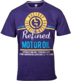 Huetrap Printed Men's Round Neck Purple ...