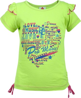 UFO T- shirt For Girls(Light Green)