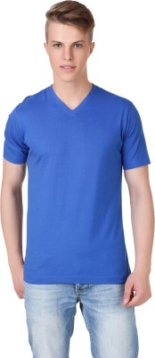 Aventura Outfitters Solid Men's V-neck Blue T-Shirt