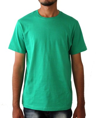 Lifestyle By Ps Solid Men's Round Neck Green T-Shirt