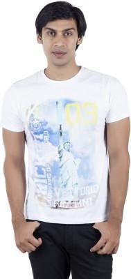 Vettorio Fratini Printed Men,s Round Neck White T-Shirt