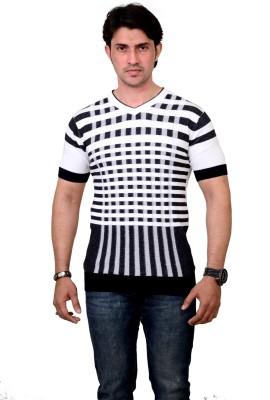 Alvinroyalspirit Checkered Men's V-neck T-Shirt