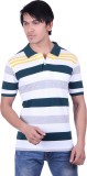 Jayis Striped Men's Polo Neck Multicolor...