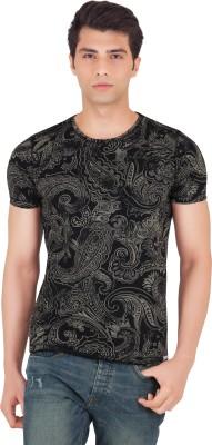 Webmachinez Printed Men's Round Neck Black T-Shirt